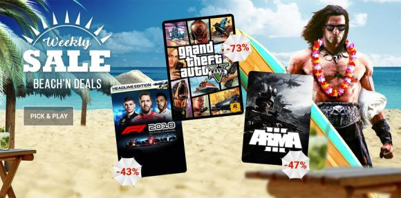Weekly Game Sale Beach'n Deals on G2A - Game Deals Blog